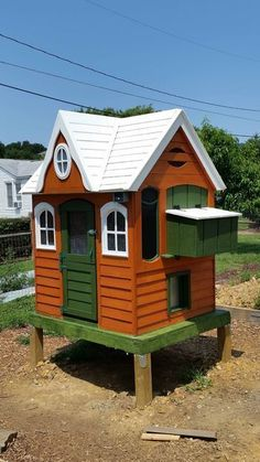 How to turn a Playhouse into an Enchanted Chicken Coop - BackYard Chickens Community