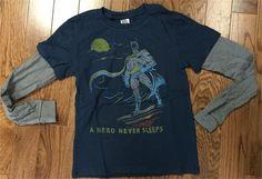 Junk Food Boys a Hero Never Sleeps Long Sleeve Shirt