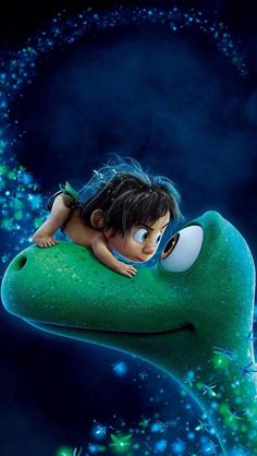 ~ Eyeball to eyeball: Arlo and Spot in a moment of bonding from The Good Dinosaur. My husband enjoys watching videos about them. They were never on my radar until I watched this movie. Not just for kids, it also appeals to adults. The overall theme of Disney Pixar, Disney Amor, Disney Animation, Disney And Dreamworks, Disney Cartoons, Disney Magic, The Good Dinosaur, Movie Wallpapers, Cute Cartoon Wallpapers