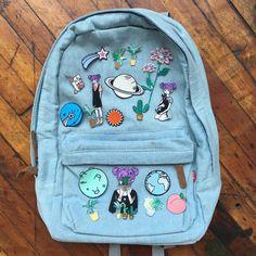 Tumblr 90s grunge denim backpack (205 BRL) ❤ liked on Polyvore featuring bags, backpacks, blue bag, denim bags, knapsack bag, rucksack bags and grunge backpack
