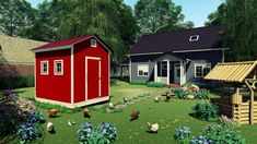 Raise your own Cluck Norris and Yolko-Ono 15 DIY Chicken coop plans Have your own farm fresh eggs Every. by Easy Coops™ Walk In Chicken Coop, Chicken Shed, Backyard Chicken Coop Plans, Easy Chicken Coop, Chickens Backyard, Chicken Tractors, Pallet Coop, Homesteads, Aquaponics
