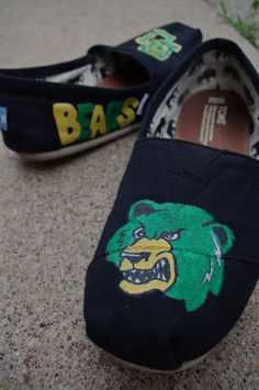 Baylor TOMS with my favorite Bear!