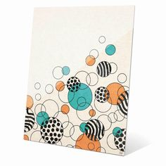Horizon Rising Orange and Teal Bubbles Graphic on