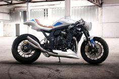 Suzuki Bandit 1250 cc street fighter rebuilt café racer style