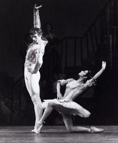 Rudolf Nureyev as Basilio and Lucette Aldous as Kitri in Nureyev's production of 'Don Quixote' for the Australian Ballet.