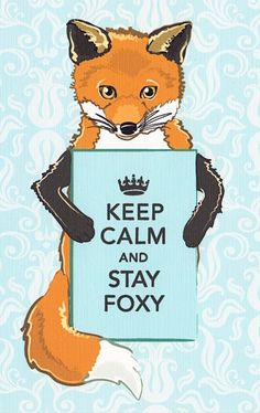 Keep Calm and Stay Foxy...bahahahaha...this is awesome lots of reasons.