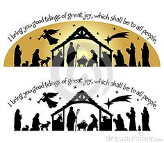 Christmas Silhouette of the birth of Christ