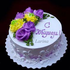 Фотография Beautiful Cakes, Amazing Cakes, Simple Elegant Cakes, Basket Weave Cake, Western Cakes, Cream Decor, Purple Cakes, Fresh Cream, Cake Gallery