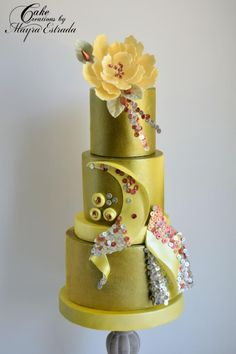 Wedding Cakes Inspired by Fashion A Worldwide Collaboration by Cake Creations by ME - Mayra Estrada - http://cakesdecor.com/cakes/281808-wedding-cakes-inspired-by-fashion-a-worldwide-collaboration
