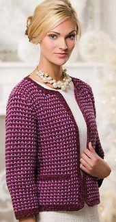 Ravelry: Radiant Tweed Cardi pattern by E. J. Slayton