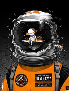 The Black Keys & St. Vincent - gig poster
