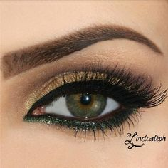 I love the hint of green! Such a gorgeous color, and obviously looks great with green eyes!
