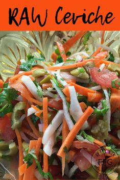 🌿🌞🍃RAW Veggie Ceviche! YUM! FAST! EASY! RAWcipe: Toothpick Carrots, Daikon (or Jicama), Purple Onion, Dice Tomatoes, Olives, Cilantro. 1/2 Lime Juice, Olive Oil, Salt. Let Marinate for extra Flavour!🥕🍅 Ceviche, Lime Juice, Raw Vegan, Olives, Dice, Cilantro, Olive Oil, Tomatoes, Onion