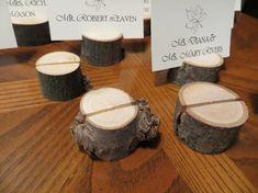 Set of Twenty Five (25) Wood Place Card Holders