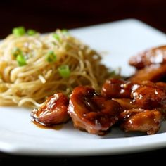 Teriyaki Chicken & Garlic Noodles. All from scratch in only 30 minutes.
