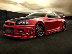 Nissan GT-R Wallpaper HD   Download Nissan Skyline GTR Red Wallpaper HD