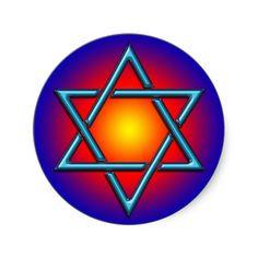 BLUE CHROME STAR OF DAVID STICKERS