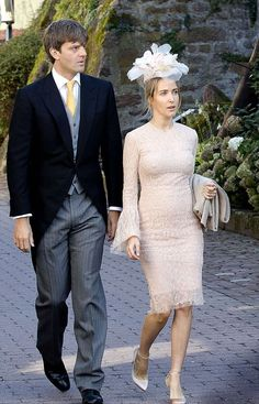 Prince Ernst August of Hannover and his pregnant wife, fashion designer Princess Ekaterina of Hanover The couple tied the knot themselves just two months ago. Attends religious wedding of Prince Ferdinand of Leiningen and Princess Viktoria Luise of Prussia at the Abbey Church in Amorbach, Germany.