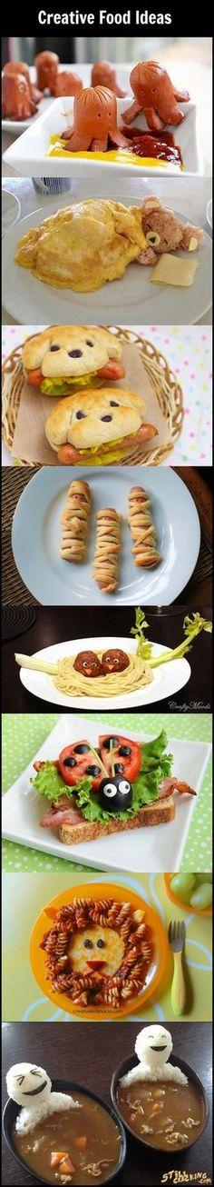 Creative Food Ideas // Ideas de comida creativas Luz no come nada . Jarabes, jalea real, no funciona nada con usted.