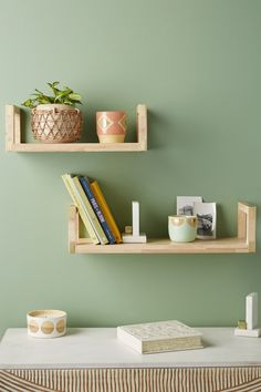 Carson Shelf - Best Room Decorations for Your Home Hanging Storage, Wall Storage, Mint Walls, Anthropologie, Living Room Remodel, Condo Remodel, Decorative Storage, Easy Home Decor, Living Room Kitchen