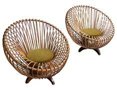 1950s Italian rattan furniture