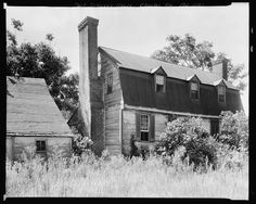 Port Tobacco Houses,chimneys,Charles County,MD,Maryland,Architecture,1936 1