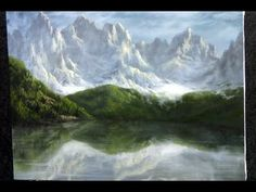 Paint with Kevin Hill - Mountain Reflection wet on wet HD - YouTube