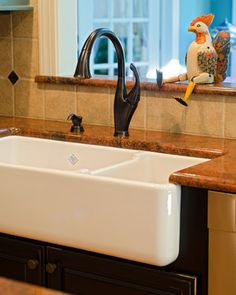 Fireclay Kitchen Sink Design Ideas, Pictures, Remodel, and Decor