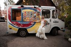 Ice cream truck for your wedding day! Photography by Cat Norman