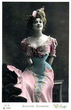 Turn-of-the-Century French actress Arlette Dorgère