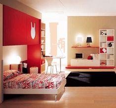 schlafzimmer design rot - Hngenden Tr Kopfteil