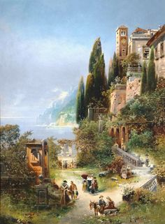 Robert Alott (1850-1910) on Lake Garda