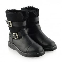 Armani Girls Black Ankle Boots