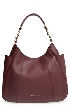 Salvatore Ferragamo 'Elle' Leather Hobo available at #Nordstrom