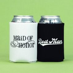 Maid of Honor and Best Man Can Coolers. Gift idea 2