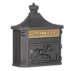 SALSBURY INDUSTRIES 4400 series W x H Metal Black Wall Mount Lockable Mailbox at Lowe's. Salsbury 4400 series Victorian mailboxes replicate the design elements of the Victorian architectural era with ornate decorative details in cast Victorian Mailboxes, Antique Mailbox, Wall Mount Mailbox, Mounted Mailbox, Lockable Mailbox, Cluster Mailboxes, Architectural Mailboxes, Exterior Light Fixtures, Yard Care