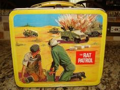 WHERE'S TOPPIE? VINTAGE 1967 RAT PATROL METAL LUNCHBOX