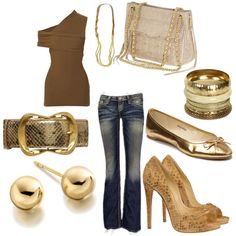 Love the top style and jeans!! I want them!, created by eglaze0105 on Polyvore