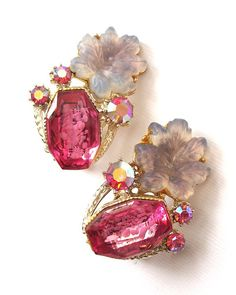 Vintage Pink Jewelry Pink Aurora Borealis AB by BlueSparrowVintage, $32.00