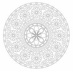 Mandala 214.Mandala. Mandala para pintar. Mandala for painting. Mandala of coloring