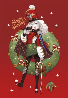 Sugar and spice Character Concept, Character Art, Concept Art, Christmas Drawing, Christmas Art, Anime Kunst, Anime Art, Character Illustration, Illustration Art