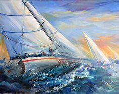 Fine Art Paris Illustrations by ArtikAtelier Illustration Parisienne, Paris Illustration, Sailing Regatta, Sailboat Painting, Oeuvre D'art, Les Oeuvres, Sailing Ships, Watercolor Paintings, Photos