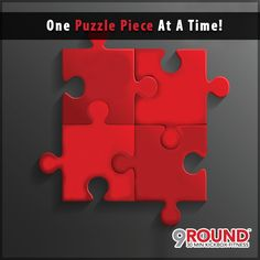 """What's the BEST way to successfully put a difficult puzzle together? ONE puzzle piece at a time!Did you know that the SAME concept also applies to your fitness goals? Today, our 9Round Nutrition Coach, Dr. Rick Kattouf II., explains this concept in his video """"ONE PUZZLE PIECE AT A TIME!""""Check it out:#9RoundCoMo #LetsGetFit #OnePuzzlePieceAtATime #WeekendWarrior"""