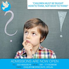 Critical thinking is a very important skill that all children need to learn. They need to be able to look at all the information they are given and make a decision. ‪#‎MontessoriSchool‬ ‪#‎Admissions‬ ‪#‎Mumbai‬