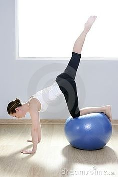 Stability Exercises, Stability Ball, Yoga Fitness, Gym Workouts, Pilates, Gym Equipment, Sports, Women, Hs Sports