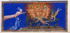 Fall of the Rebel Angels - Dante Alighieri TitleDivina Commedia OriginItaly, N. (Tuscany, Siena?) Datebetween 1444 and c. 1450 LanguageItalian    http://www.bl.uk/catalogues/illuminatedmanuscripts/record.asp?MSID=6468&CollID=58&NStart=36