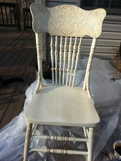 milk paint restyled pressed back chair