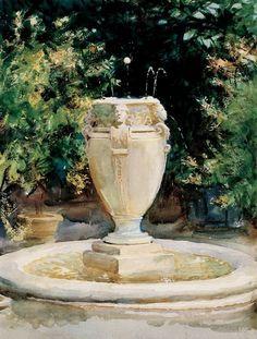 John Singer Sargent - Vase Fountain, Pocantico