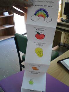 5ο Νηπιαγωγείο Τρίπολης: Γνωρίζω τα χρώματα Color Shapes, Lemonade, Rainbow, Colours, Blog, Maths, Rain Bow, Rainbows