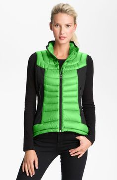 Free shipping and returns on Bernardo Mixed Media Packable Down Vest at Nordstrom.com. Curved quilting and trend-right color blocking slim the silhouette of a cozy, down-filled vest. Soft, stretchy side panels keep the fit close and improve range of motion.